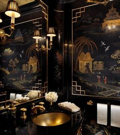 gorgeous chinoiserie bathroom