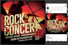 Ad: Rock Concert Flyer by KiraYamato Design Studio on This flyer is perfect for promoting your next rock and roll concert. Flyer Design Templates, Flyer Template, Concert Flyer, Club Flyers, Rock Concert, Business Flyer, Be Perfect, Rock And Roll, Social Media