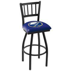 "Buffalo Sabres 30"" Wrinkle Swivel Bar Stool with Jailhouse Style Back - $199.00"