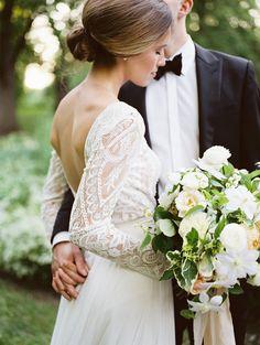 Peaceful Garden Wedding Reception - Once Wed