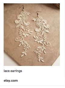 cute lace earrings