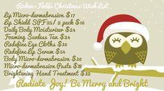 Christmas wish list lookgr8.myrandf.com