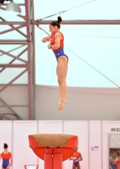 Jordyn Weiber training in London.  This leo is actually my favorite training leo that we've seen from the team yet:).
