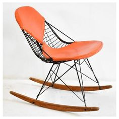 Orange Bikini, The Bikini, Meditating Cat, Eames Rocking Chair, Big Whale, Charles & Ray Eames, Cabinet Decor, White Gloves, Herman Miller