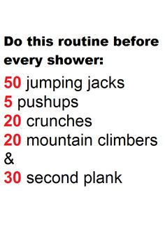 tweets, Do this before you shower.