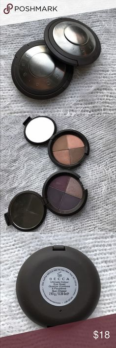 Becca Quad in Astro Violet and Sun Chaser These cute little quads are makeup bag staples with their easy blending and perfect color combinations. *swatched only BECCA Makeup Eyeshadow