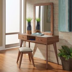 Penelope Danish Modern Vanity Console Table by MID-CENTURY LIVING - Free Shipping Today - Overstock.com - 18997523 - Mobile