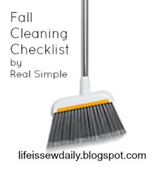 Life is {Sew} Daily: Fall Cleaning Checklist {free printable checklist + a free app} #realsimple #cleaning #spring #fall
