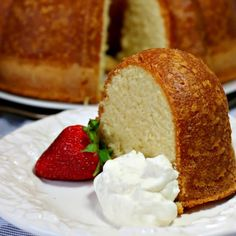 Perfect Pound Cake is buttery and sweet, with a hint of vanilla. This cake is rich, with the flavor of shortbread cookies, but is still light as a feather.