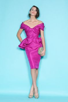 Marchesa is so pretty and feminine! Lovin' the color and peplum!  Marchesa Resort 2012.