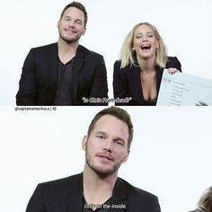 Chris Pratt and Jennifer Lawrence answer the Web's most searched questions