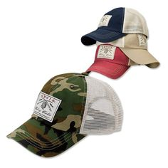 77c31ace06a Functional vintage style mesh trucker cap. Our cap has a breezy hook-and-