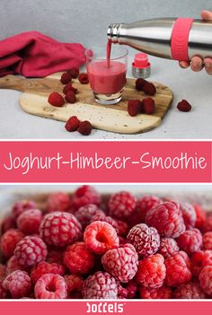 Leckerer Joghurt-Himbeer-Smoothie Tasty, healthy and fast – there is more than one reason to love smoothies! This creamy yogurt-raspberry smoothie is full of vitamins and is perfect as a healthy breakfast or as a fruity refreshment in between. Smoothie Bowl, Raspberry Smoothie, Fruit Smoothies, Healthy Smoothies, Yogurt, Clean Eating Snacks, Food Network, Food And Drink, Tasty