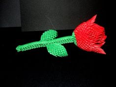How to make 3d origami Rose part1 - YouTube