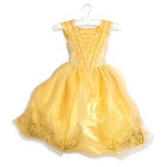Questo abito di Belle porterà un tocco di calda luce dorata a ogni occasione. Ispirato al film live action La bella e la bestia, presenta un corpetto con ruche e una gonna lunga fino ai piedi con dettagli cangianti e brillantini dorati.