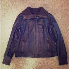 Eddie Bauer Leather Bomber Jacket Dark brown leather is in perfect condition. Cool elbow patches add an updated touch. Only worn a few times. Cotton lining.  You definitely can channel your inner Top Gun in this thing. Eddie Bauer Jackets & Coats