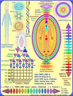 Very Interesting Aura/Chakra Chart, explaining the releasing of lower vibrations from the DNA through successive generations.