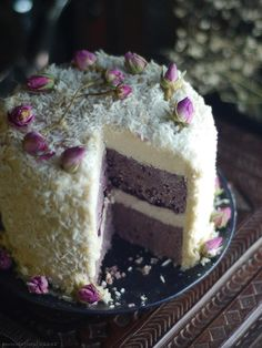 Learn more about  Blackberry Coconut Cake (No-Bake & Free-From: gluten & grains, dairy, nu...