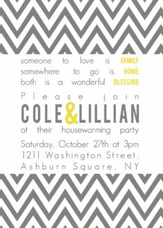 housewarming party invitation wording | House Warming Invitation ...