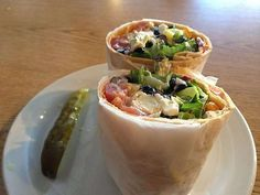 Mediterranean Black Bean Wrap, Toast Cafe, Chattanooga, Tn.