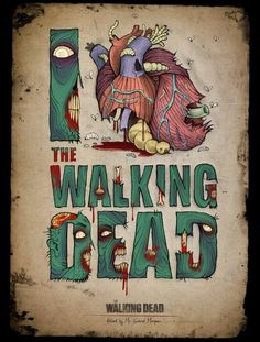 """""""I Heart The Walking Dead"""" by Gabriel Marques.  Awesome."""