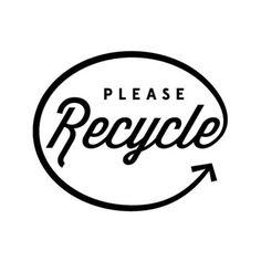 -Tipografía script(aspecto mas cercano e informal) -Limpieza en el conjunto -Uniformidad - Uso de un color -Uso del recurso básico del reciclaje(flecha) que vuelve al mismo punto.