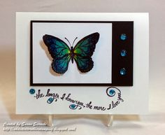 The More I Love You - handmade card by Susan Sieracki; image unknown