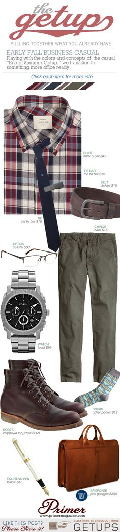 """Playing with the colors and concepts of  the casual """"End of Summer Getup,"""" we transition to something more office ready."""