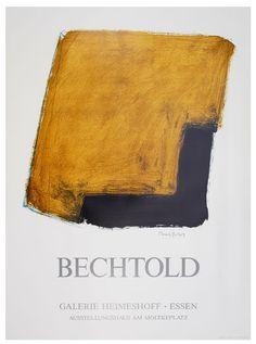 "Erwin Bechtold: Galerie Hermeshoff, ""BECHTOLD"" Galerie Hermeshoff - Essen, 1987 Original-Farblithographie 76 x 56 cm Drucker: La Poligrafa, . The Originals, Abstract, Artists, Poster Poster, Posters, Poster, Essen, Summary"