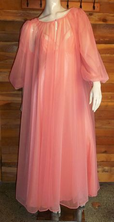 Vintage Lingerie LORRAINE Chiffon Nightgown by ReallyCoolClothes