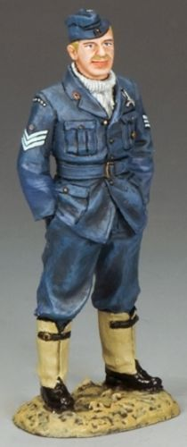 World War II British Royal Air Force RAF021 Sergeant Pilot Antoni Glowacki - Made by King and Country Military Miniatures and Models. Factory made, hand assembled, painted and boxed in a padded decorative box. Excellent gift for the enthusiast.