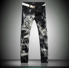 26.92$  Watch now - http://ali19e.shopchina.info/go.php?t=32247133388 - Black Skinny Jeans  Men Fashion Wolf 3D Printed Animal Painted Stretch Denim Jeans Men Slim Fit Jeans Pants Trousers MB560 Z30  #aliexpressideas