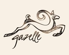 gazelle logo - This graceful and intricate logo is hand drawn my yours truly. It's intricate and stunning workmanship lends a highly unique brand. Perfected suited for an import export company, international, Kenyan, Brazilian, or African imports company, coffee trader, distributor, or artisan roaster, crafts person, wild life photographer. Confidence and pride exudes from her graceful leap. Fine good and arts, exotic traveler, safari and rugged bush escapades, car dealer, clothing line…