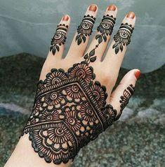 Back Hand Mehndi Design Mehandi Designs, Indian Henna Designs, Back Hand Mehndi Designs, Mehndi Designs For Girls, Mehndi Designs For Beginners, Unique Mehndi Designs, New Bridal Mehndi Designs, Henna Designs Easy, Mehndi Designs For Fingers