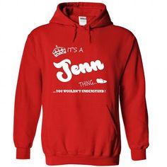Its a Jenn thing, you wouldnt understand - T shirt Hood - #tshirt rug #sweatshirt design. OBTAIN => https://www.sunfrog.com/LifeStyle/Its-a-Jenn-thing-you-wouldnt-understand--T-shirt-Hoodie-Name-8063-Red-Hoodie.html?68278