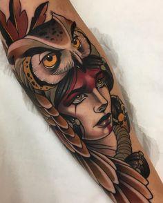 Neo Traditional Tattoos - My list of best tattoo models Valkerie Tattoo, Body Art Tattoos, Sleeve Tattoos, Tatoos, Traditional Tattoo Artwork, Traditional Tattoo Design, Traditional Tattoos, Neo Traditional Art, Trendy Tattoos