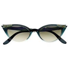 Retro Vintage Fashion Rhinestones Womens Cat Eye Sunglasses C1350 – FREYRS - Beautifully designed, cheap sunglasses for men