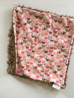 Kitty cat  lovey security blanket 16 inches x 16 inches, minky, kitties cats nursery, girl baby shower gift, toddler securit by DwellDarling on Etsy