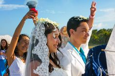 Mayan ceremony  at Tulum for a beach   destination wedding by Naal Wedding Photography . Sian kaan