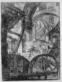 """Tutte le tavole della prima edizione delle """"Carceri"""" del 1751. La seconda e più tenebrosa edizione del 1761 all'indirizzo http://www.heritageeditions.nl/completeeditions/piranesi-carceri-complete.html#"""