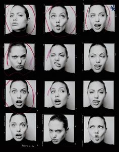 Imagem de Angelina Jolie, black and white, and actress Christy Turlington, Portrait Photography, Fashion Photography, Photographie Portrait Inspiration, Lauren Hutton, Face Expressions, Photo Poses, Actresses, Celebrities