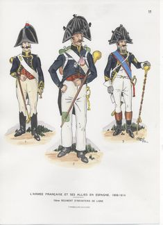 Infantry Line, Drum Majors in Spain Empire, Drum Major, French Army, Napoleonic Wars, Tambour, Costumes, Costume Ideas, Troops, Marines
