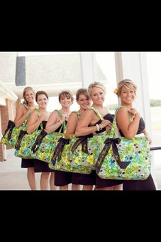 Amazing Vera Bradley bridesmaid gifts! Get Carried Away Totes!