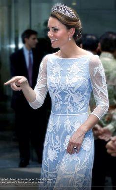Princess Kate.   I really do wish she would wear the tiara's....
