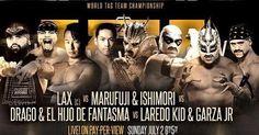 @ortizlax @santanalax vs @marufuji_naomichi_ @taijiishimori  vs @tripledrago @hijodelfantasma vs @laredokidpro @garzaajr . . http://www.youtube.com/tigerhite . . . #prowrestling #wrestling #professionalwrestling #indiewrestling #mma #fight #mixedmartialarts #fighting #youtube @youtube #youtuber #content #contentcreator #slamm15 @impactwrestling #slammiversary #gfw @gfwwrestling #lax #prowrestlingnoah #aaaworldwide #lucha #tagteamtitles