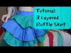 (1) TUTORIAL | Circle Skirt | WITH RUFFLES - YouTube