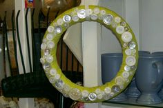 green button wreath