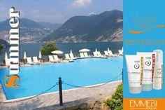 #Emmebiitalia In montagna, lago e piscina proteggi i tuoi capelli con i solari Voilà l'étè www.emmebiitalia.com