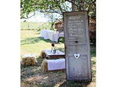 #deco #mariage #champetre #campagne #porte #jardin  La mariée en colère.com