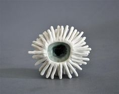 Grey Anemone Sculptural Bowl by elementclaystudio on Etsy, $225.00
